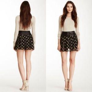 Funky People Polka Dot Bow Pleated Skirt Retro